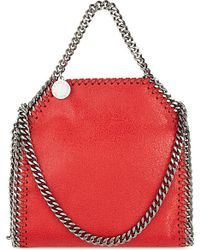 Stella McCartney | Tiny Falabella Shoulder Bag, Women's, Cherry Red | Lyst