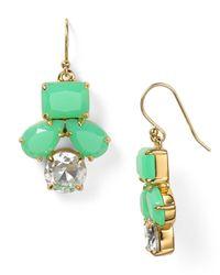 kate spade new york - Green Secret Garden Drop Earrings - Lyst