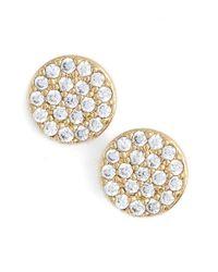 Nadri - Metallic 'geo' Small Stud Earrings - Lyst
