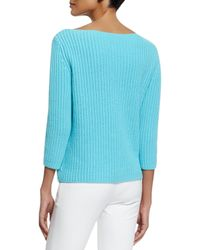 Michael Kors - Blue Chunky-knit Cashmere Sweater - Lyst