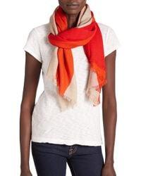 Rag & Bone - Red Diagonal Stripes Wool Scarf - Lyst