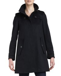 Burberry - Singlebreasted Swing Coat Black 12 - Lyst