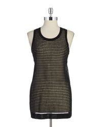 DKNY | Black Sheer Knit Tank | Lyst