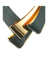 Marni | Gray Leather And Metal Necklace | Lyst
