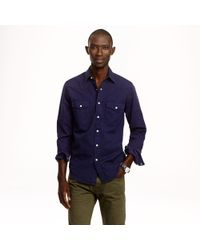 J.Crew - Blue Wallace Barnes Garmentdyed Western Shirt for Men - Lyst