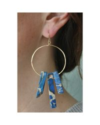 Spectrum | Blue Jasper Hoops | Lyst