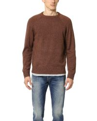 Obey | Brown Check Point Sweater for Men | Lyst