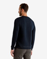 Ted Baker | Blue Quilted Sweater for Men | Lyst