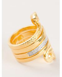 Genevieve Jones | Metallic Spiral Snake Ring | Lyst