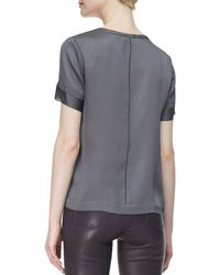 J Brand | Black Lana Leather and Shearling Jacket  | Lyst