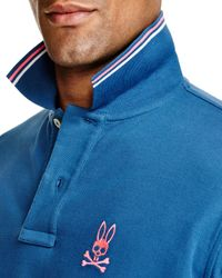 Psycho Bunny - Blue Neon Bunny Polo - Regular Fit for Men - Lyst