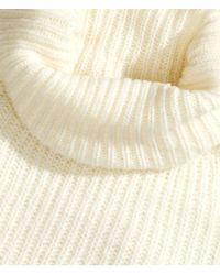 H&M - Natural Short Polo-Neck Jumper - Lyst