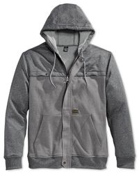 Volcom - Gray Dash Colorblocked Hoodie for Men - Lyst