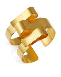 Herve Van Der Straeten - Metallic Ribbon Cuff Bracelet - Lyst