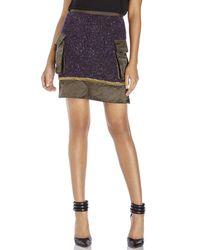 Sacai Luck - Purple Chain-Embellished Mini Skirt - Lyst