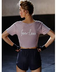 Free People | Pink The Knotted Tee | Lyst