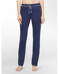Calvin Klein | Blue Underwear Liquid Lounge Pajama Pants | Lyst