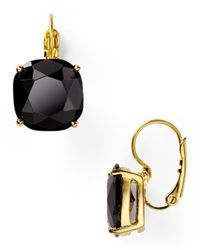 kate spade new york | Black Small Square Leverback Earrings | Lyst