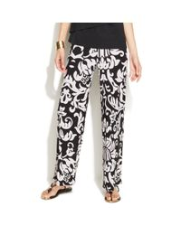 INC International Concepts - Black Wideleg Printed Soft Pants - Lyst