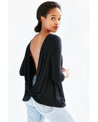 Project Social T - Black Delia Surplice-back Top - Lyst
