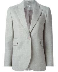 Carven | Gray Textured Peak Lapel Blazer | Lyst