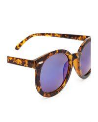 Forever 21 - Blue Tortoiseshell Tonal Sunglasses - Lyst