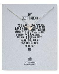 """Dogeared - Metallic It'S Personal My Best Friend Winged Heart Necklace, 18"""" - Lyst"""