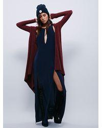 Free People - Purple Womens Sloane Hooded Wrap Cardi - Lyst