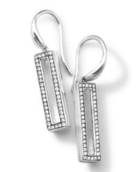 Ippolita | Metallic Silver Rock Star Candy Small Rectangular Drop Earrings With Diamonds | Lyst