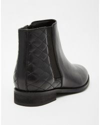 ASOS | Black Alaska Wide Fit Leather Ankle Boots | Lyst