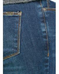 Mango - Blue Super Slimfit Dark Wash Jeans - Lyst