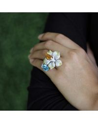 Wendy Yue - Multicolor Mandarin Garnet Flower Ring - Lyst