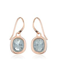 Monica Vinader | Blue Siren Wire Earrings | Lyst