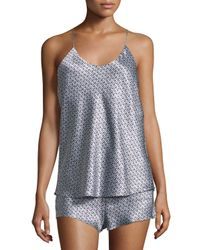 Olivia Von Halle - Metallic Bella Bergman Printed Shorty Pajama Set - Lyst