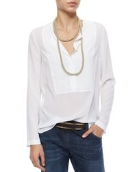 Brunello Cucinelli | Metallic Wrap-Around Monili Cashmere Necklace | Lyst
