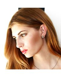 Adornia - Metallic Champagne Diamond Noho Stud Earrings - Lyst