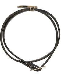 McQ | Metallic Silver Leather Wrap Swallow Mini Bracelet | Lyst