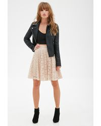 Forever 21 | Natural Floral Lace A-line Skirt | Lyst