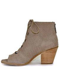 Eileen Fisher | Natural Lace Up Bootie | Lyst