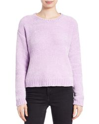 Lord & Taylor | Natural Boxy Chenille Pullover | Lyst