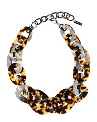 Jaeger | Brown Oval Link Resin Necklace | Lyst