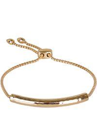 Monica Vinader | Metallic Gold-plated Vermeil Esencia Bracelet | Lyst
