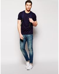 Ben Sherman - Blue T-shirt With Umbrella Print for Men - Lyst