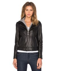Doma Leather | Black Hooded Leather Jacket | Lyst