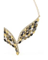 Oasis - Multicolor Feather Stone Necklace - Lyst