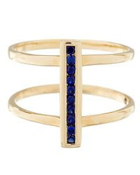 Anna Sheffield | Metallic Gold Pave Sapphire Licol Ring | Lyst