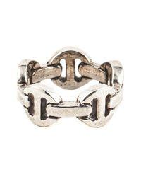 Hoorsenbuhs | Metallic Classic Tri-link Ring for Men | Lyst