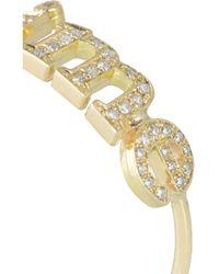 Jennifer Meyer - Metallic Je T'Aime 18-Karat Gold Diamond Ring - Lyst