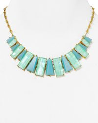 kate spade new york | Blue Beach Collar Necklace, 16"
