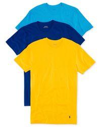 Polo Ralph Lauren | Blue Jersey Crew-neck T-shirt 3-pack for Men | Lyst